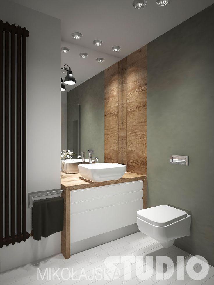 Prosta minimalistyczna łazienka #loft #styl industrialny #wnętrza
