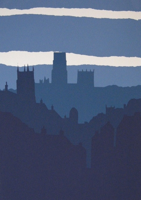 Simple but strong. A screenprint of Durham, UK, by Ian Scott Massie