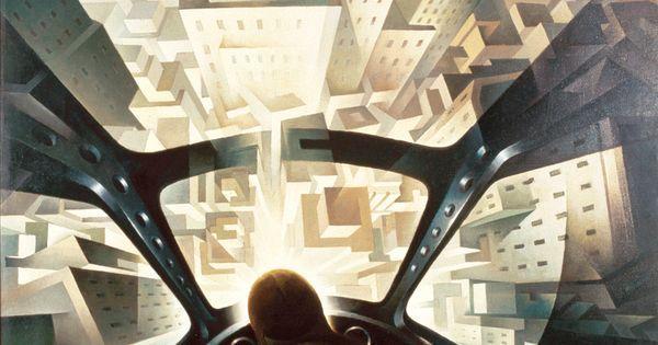 Like @ Pinterest: [Tullio Crali] Incuneandosi nell'abitato 1939 - In quest'opera dunque Tullio Crali unisce i due temi a lui più cari e li fonde con straordinaria capacità di suggestione: quello futurista della città ultramoderna visionaria e titanica con echi dell'architettura di Sant'Elia ma non certo senza suggestioni della pittura espressionista (si pensi in particolare ai paesaggi urbani di E. L. Kirchner) e più ancora di quella cubista (La Torre Eiffel di R. Delaunay)