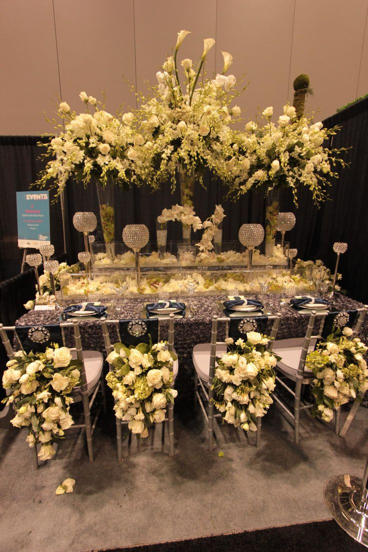 Stunning Centrepieces And Chairs