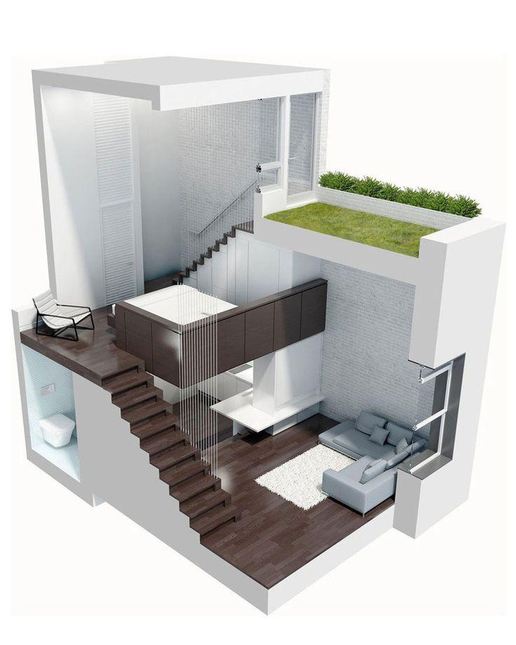 Фотография: Прочее в стиле , Квартира, Дома и квартиры, Перепланировка, манхеттен, микро-лофт, сад на крыше – фото на InMyRoom.ru