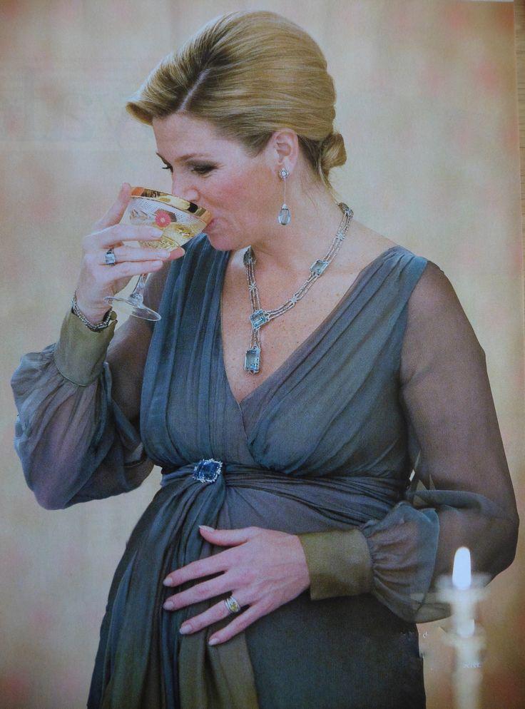 Maxima hoogzwanger van Ariane op staatsbezoek
