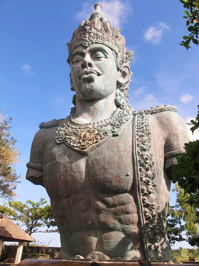 Serene: The statue of the Balinese God Wisnu at the Garuda Wisnu Kencana Cultural Park. (Photo by Iman Mahditama)