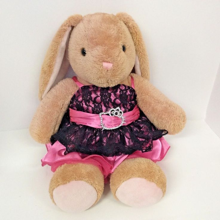 "Build A Bear Plush Hello Kitty Dress Bunny Rabbit Stuffed Animal Soft Toy 17"" #BuildABearWorkshop"
