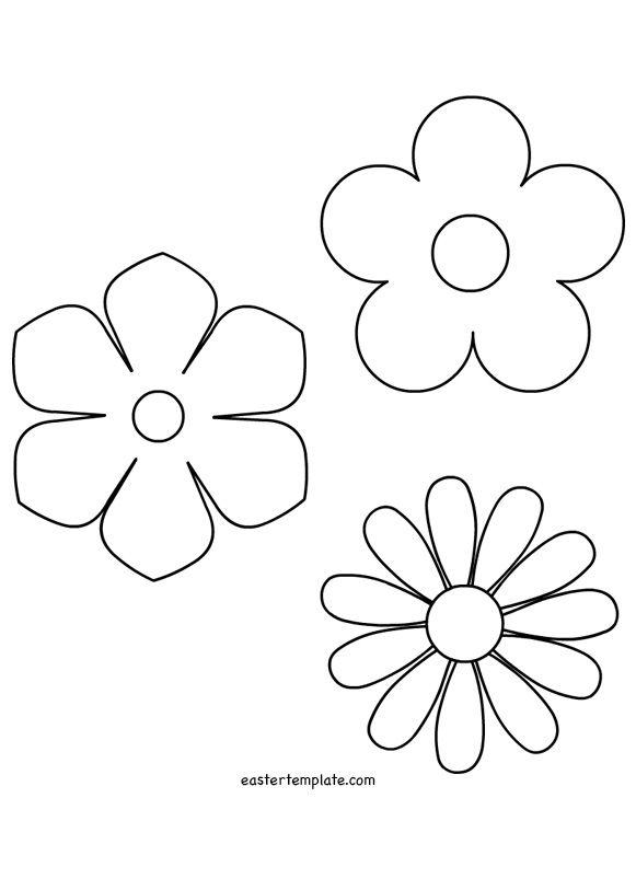 Spring Flower Template Stencils Pinterest Spring