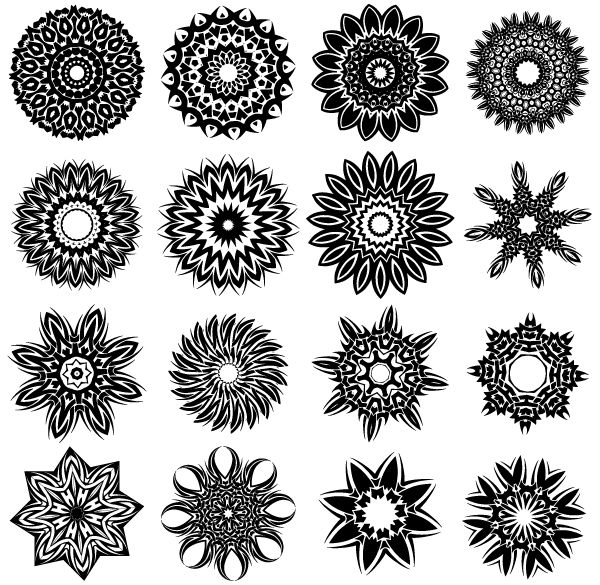 Free Tribal Flower Tattoo Designs Vector | Download Free Vector Graphics