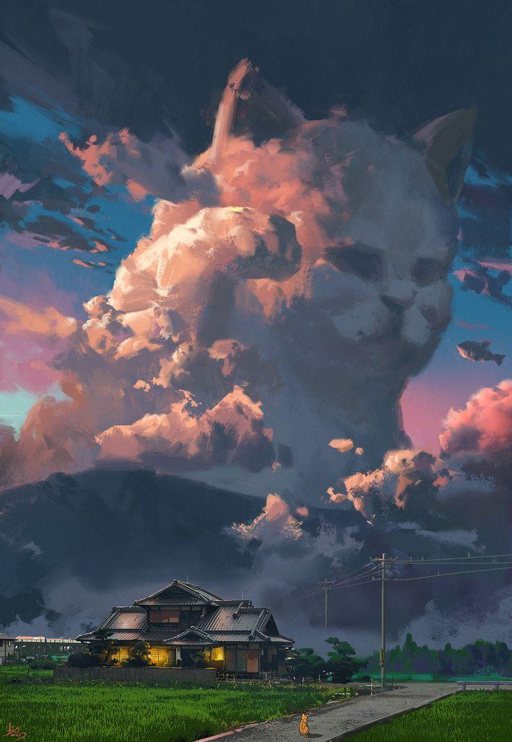 Cat Cloud by Ling Xiang, digital, 2017. di 2020
