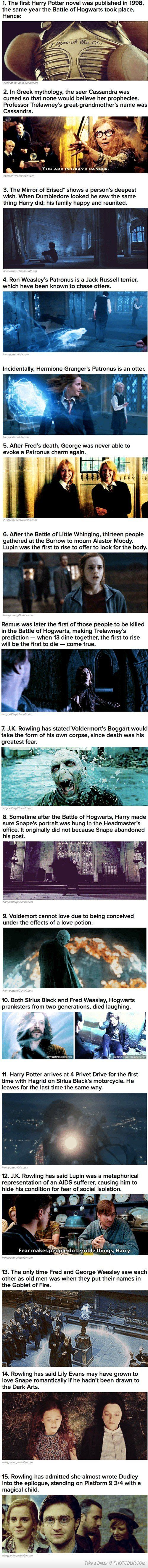 Harry Potter Facts. Tags are a lie.. 1. The [ilol Harry Potter novel was published In 1998, the same year the Battle of Hogwarts took place. Hence: In Greek myt