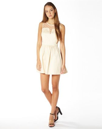 Party, Spotted Mesh Detail Dress, Buy Online