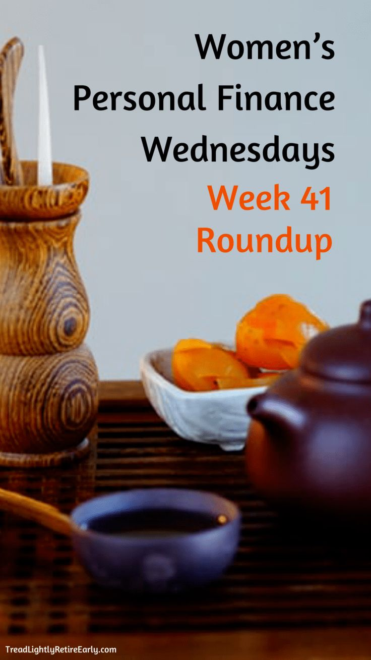 Women's Personal Finance Wednesdays: Week 41 Roundup