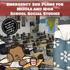 Emergency Sub Plans for Middle and High School Social Studies