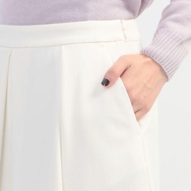 【[S]タックガウチョパンツ】タックを入れてフレア感を演出したスカート見えするガウチョパンツ…