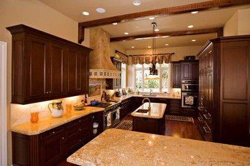 Dark Hardwood Floors Kitchen | Dark Hardwood Flooring Design Ideas, Pictures, Remodel, and Decor