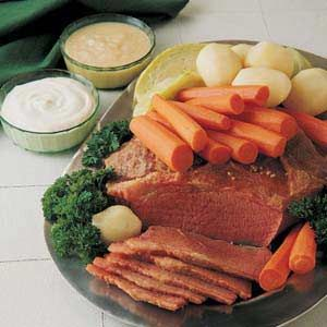 I love the horseradish & sour cream and mustard sauce that's in this recipe!