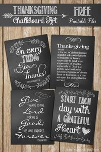 Free Thanksgiving Chalkboard Art