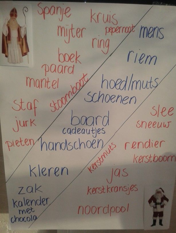 Overlapper tussen de kerstman en Sinterklaas. Ideale werkvorm voor de overgang tussen Sinterklaas en Kerstmis.