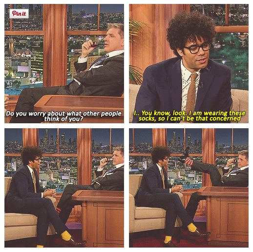 Richard Ayoade and Craig Ferguson - these two had such great chemistry in that interview.