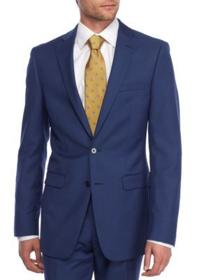 Calvin Klein Men's Extreme Slim Fit Blue Coat - Blue - 48 Regular