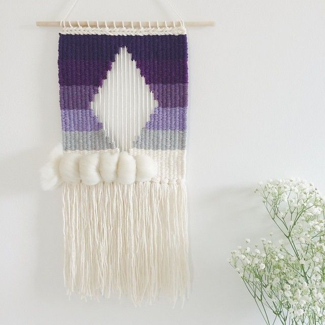 Diamonds are a girl's best friend #weaving | Hand-woven tapestries by Melissa Washin