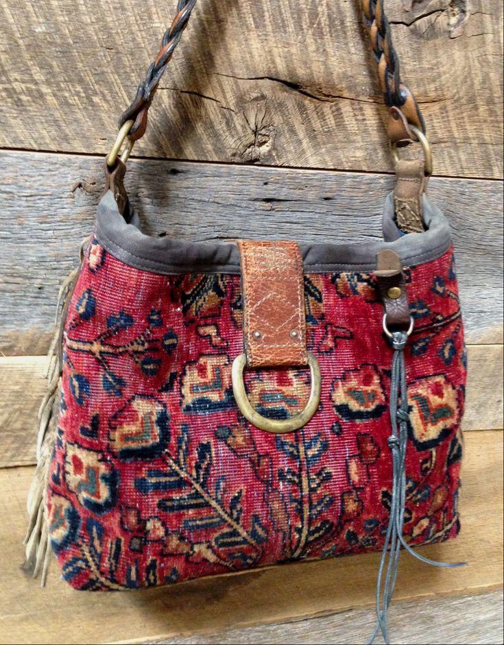 Front: My own J. Augur carpet hobo bag.