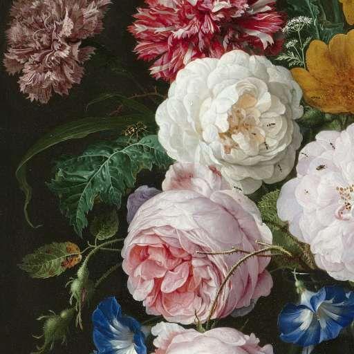Stilleven met bloemen in een glazen vaas, Jan Davidsz. de Heem. With love, Anne - www.iannsterdam.com