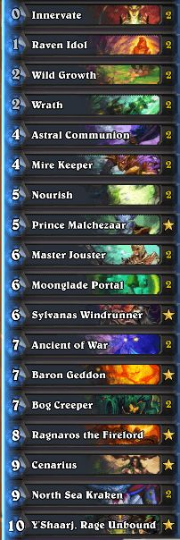 Druid Astral Communion Deck Karazhan w Prince Malchezaar Nov 16