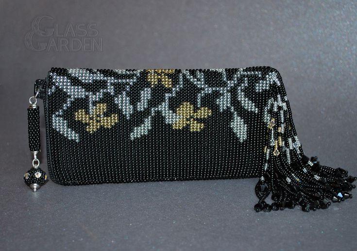 Вязание с бисером, чехол для мобильного