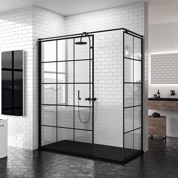 paroi de douche italienne style atelier