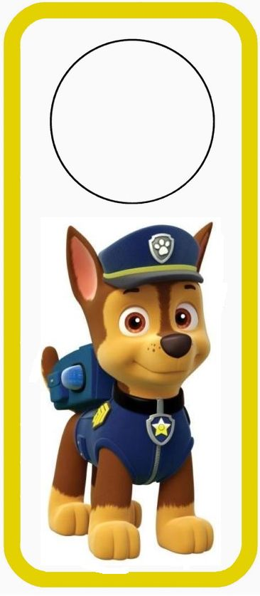 Divertido Mini Kit de Paw Patrol o Patrulla Canina Chase para Imprimir Gratis.