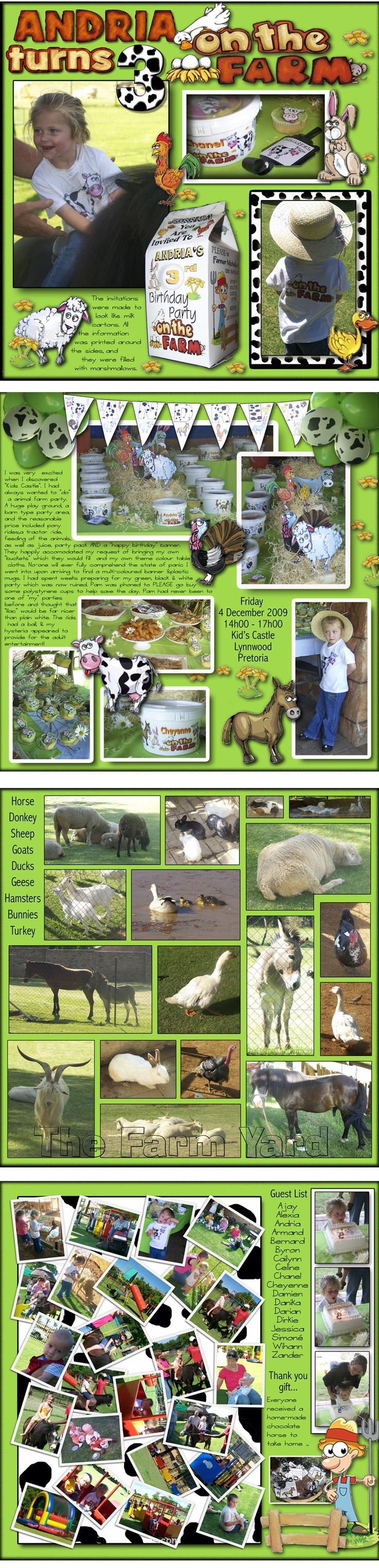 Farm birthday party ...