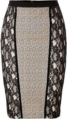 BLUMARINE Lace Panel Skirt