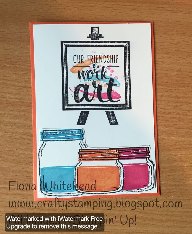 Stampin' Up! Jar of Love Painter's Palette. I wanted to combine my two favourite sets. www.craftystamping.blogspot.com