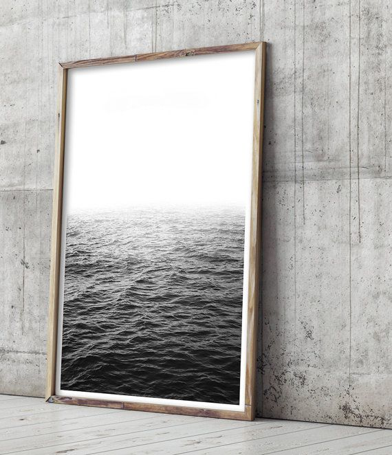 Black and White Photography Print, Ocean Art Print by Little Ink Empire on Etsy