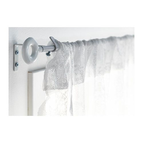IRJA Curtain rod set - IKEA (Ready to mount - brackets, curtain rod and finials included) $1.99