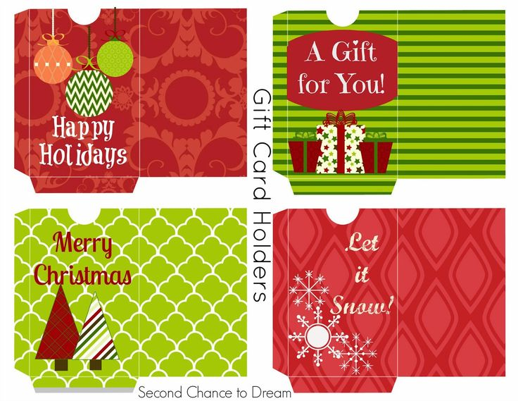 giftcard printable   Free Printable Gift Tags & Gift Card Holders - Second Chance To Dream