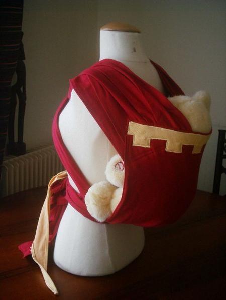 patron de porte bébé chinois - écharpe (mei tai à larges bretelles)