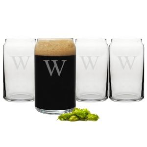 Personalized 16 oz. Craft Beer Can Glasses (Set of 4) | Print Canada Store
