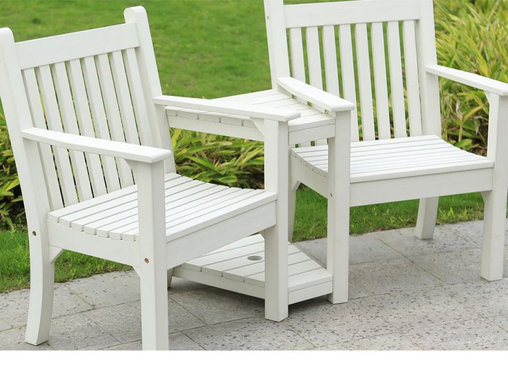 Love Seat bench White colour, bright and classic. 2 year weatherproof guarantee FREE UK delivery via a courier 30 day money back guarantee Buy online today   https://www.gardenfurnitureuk.co.uk/all-weather-garden-furniture/winawood-sandwick-love-seat-white/