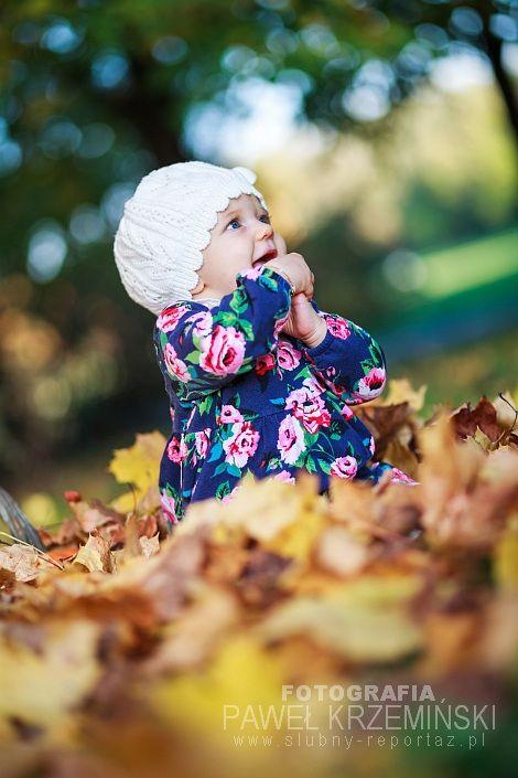 Fotografia dziecięca Poznań – jesienna sesja małej Antosi