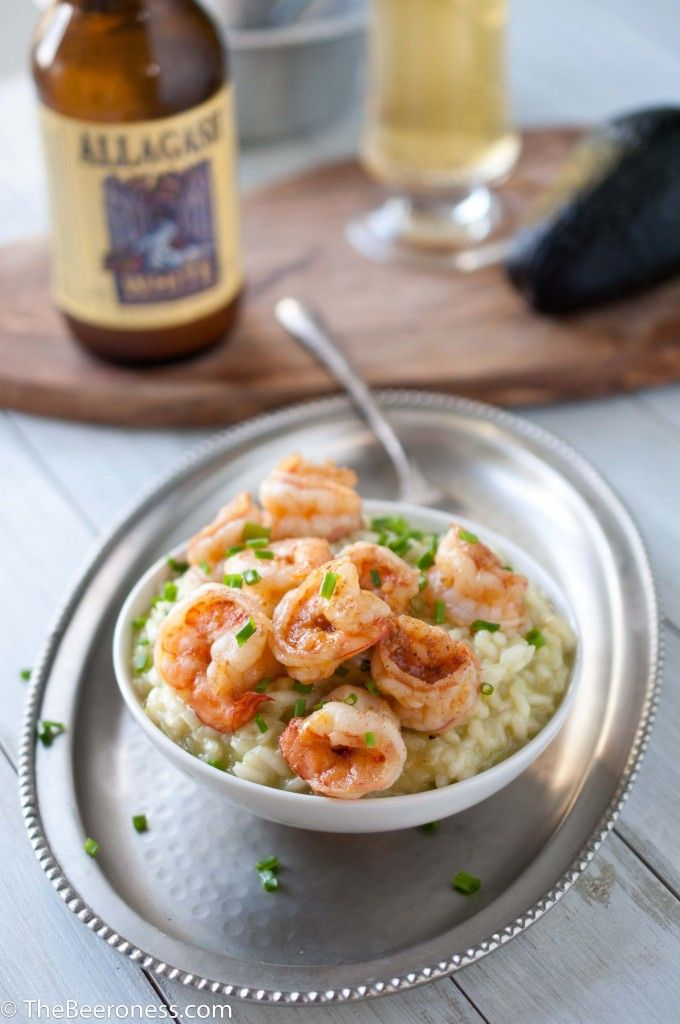 Avocado Risotto with Beer Butter Shrimp5