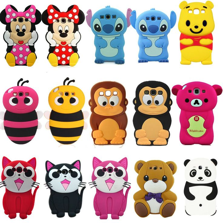 3D Animal Cute Cartoon Silicon Soft Cover Case for Samsung Galaxy S3 i9300