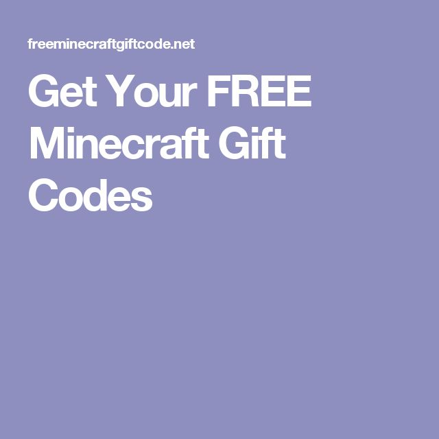 Get Your FREE Minecraft Gift Codes