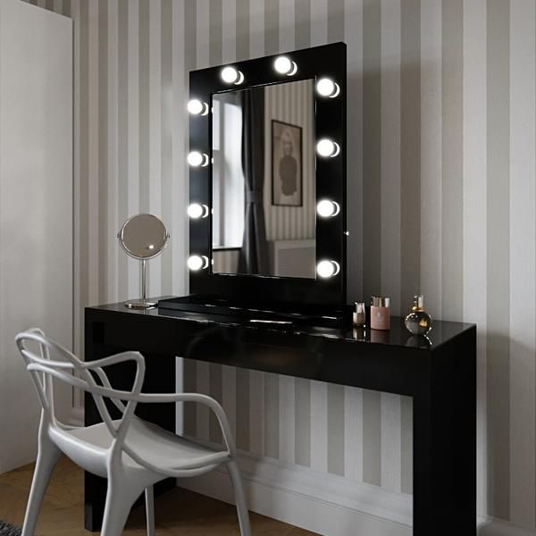 Nicole Hollywood Mirror Wall Mounted Xl 60 X 100cm Vanityspare
