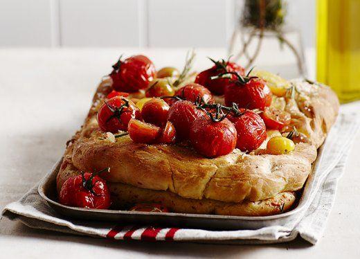 Herb and garlic focaccia recipe