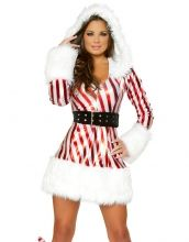 Sweetheart Candy Stripe Christmas Costume Item No : W4028 Sales Price : US$ 15.35
