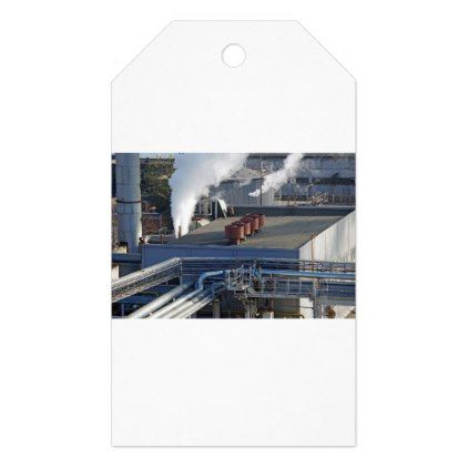 Industrial infrastructure buildings and pipeline gift tags - modern gifts cyo gift ideas personalize