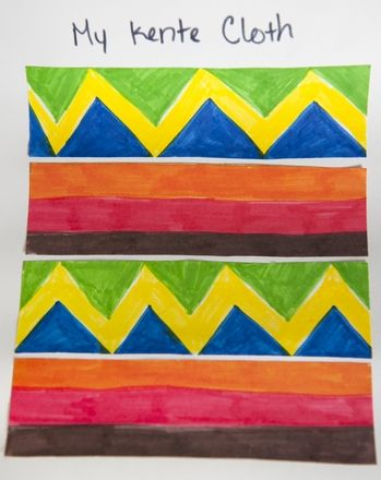 Celebrate Black History Month by having your child make her own version of a kente cloth after learning what the different colors on a kente cloth symbolize.