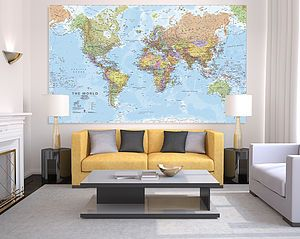 Giant Sized Canvas World Map - paintings & canvases This is awesome!