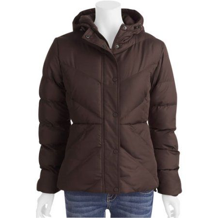 Faded Glory Bubble Jkt, Brown