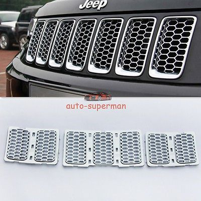Chrome Front Mesh Grille honeycomb Insert trim kit Jeep Grand Cherokee 2014 2015 in eBay Motors,Parts & Accessories,Car & Truck Parts | eBay